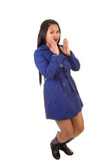 Free Girl In Coat. Royalty Free Stock Image - 18716196