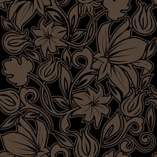 Free Floral Seamless Pattern. Stock Photo - 18716910