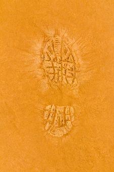 Free Shoe Print Stock Image - 18717021