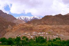 Exotic Ladakh Mountain Landscape Stock Photography