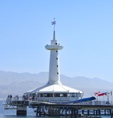 Free View On Underwater Observatory, Eilat, Israel Royalty Free Stock Images - 18717529
