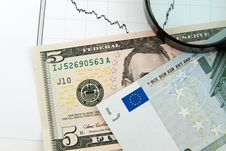 Free Dynamics Of Exchange Rates. Stock Image - 18717571