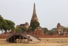 Free Ancient Temple In Ayutthaya Royalty Free Stock Photography - 18717667