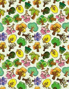 Free Seamless Tree Pattern Stock Photo - 18718160