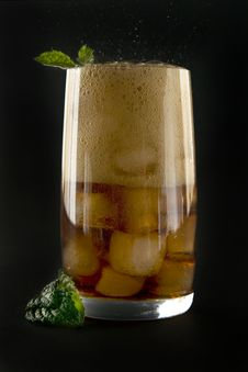 Free Glass With Cola Ice And Mint. Stock Photography - 18718842