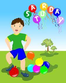 Saturday Fun, Cdr Vector Royalty Free Stock Photography