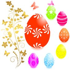 Free Set Of Easter Eggs. Stock Images - 18719164
