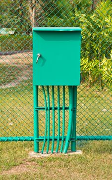Free Electricity Distribution Box. Royalty Free Stock Photo - 18719185