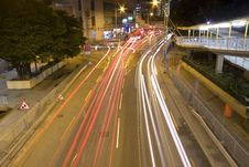 Busy Traffic In Downtown Of Hong Kong Royalty Free Stock Photo