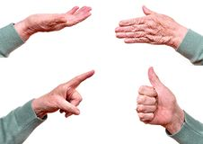 Free Senior Woman S Hand Royalty Free Stock Photo - 18719375