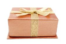 Free Gold Gift Box Royalty Free Stock Image - 18719486