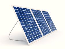 Free Solar Battery Over White Background Royalty Free Stock Photography - 18719657