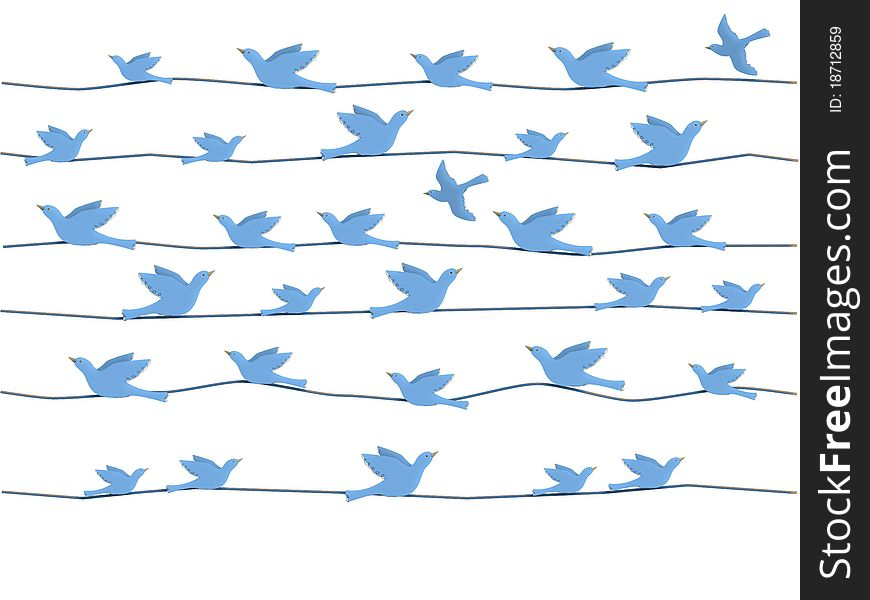Birds on wires graphic