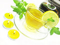 Free Fruit Yellow Tea With Lemon And Mint Royalty Free Stock Images - 18724979