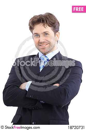 Free Cheerful And In A Suit Stock Image - 18720731