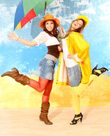 Free Girls Having Fun Royalty Free Stock Image - 18720116