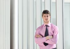 Free Young Business Man Alone In Conference Room Stock Photos - 18720613