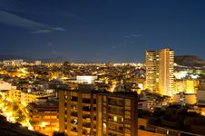 Free Night Panorama City Alicante Stock Image - 18720641