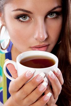 Free Woman With Tea Stock Photography - 18720792