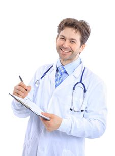 Medical Doctor With Stethoscope Royalty Free Stock Images