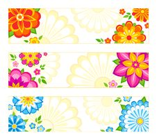Free Flower Banners Stock Photography - 18720872