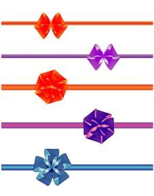 Free Colorful Bows Royalty Free Stock Photos - 18720998