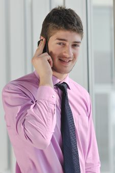 Free Young Business Man Talk By Cellphone Stock Photo - 18721000