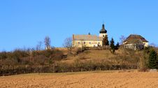 Free Church On The Hill Stock Image - 18721001
