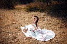 Free Bride On The Grass Royalty Free Stock Photography - 18721377