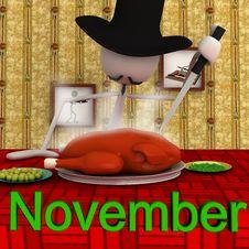 Free Stickman November Royalty Free Stock Images - 18721609