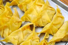 Free Top View Of Meat Dumplings Royalty Free Stock Photos - 18721648