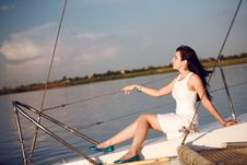Free Girl On The Boat Royalty Free Stock Images - 18722519