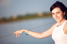 Portrait Of A Girl On The Boat Royalty Free Stock Images
