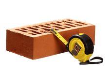 Free Brick And Tape Measure Stock Photos - 18722543