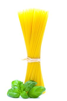 Free Pasta And Basil Royalty Free Stock Photos - 18723698