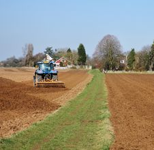 Free Tractor Ploughing A Field Stock Image - 18724081