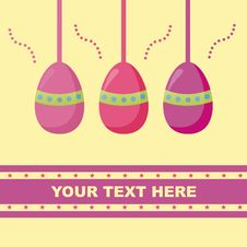 Free Cute Easter Card Stock Photo - 18724470