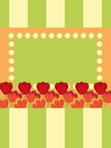 Free Greeting Card With Tulips Royalty Free Stock Images - 18724829