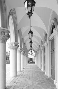 Free Hallway Of Classic Building Stock Photography - 18725512