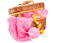 Free Handmade Knitting Royalty Free Stock Photography - 18725707