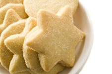 Star Shaped Homemade Cookies In A White Plate Stock Photography