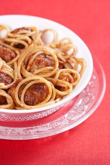 Free Pasta With Meatballs Stock Image - 18726361
