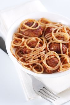 Free Pasta With Meatballs Royalty Free Stock Photo - 18726425