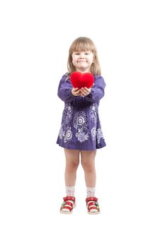 Free Young Girl With Heart Royalty Free Stock Photo - 18727975