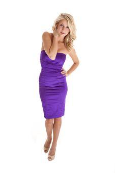 Free Purple Dress White Stock Photography - 18728832