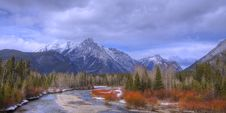 Free Rocky Mountain River Panorama Stock Image - 18729211