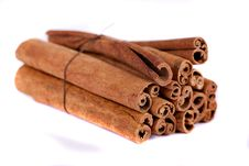Free Pile Of Cinnamon Spice Quills Royalty Free Stock Photo - 18729335