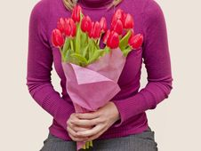 Free Bouquet Of Pink Tulips Royalty Free Stock Images - 18729529