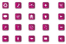 Free Purple Plastic Navigation Icons Stock Images - 18729874