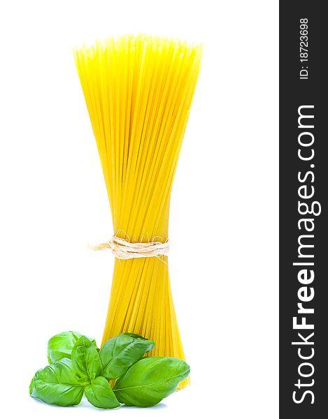 Pasta and basil